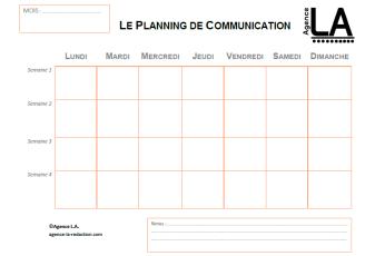 Agence LA planning de com